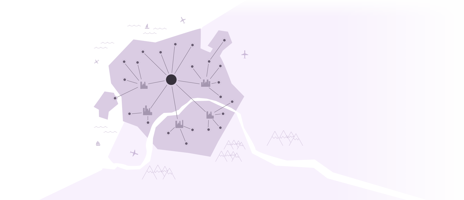 territory with connections