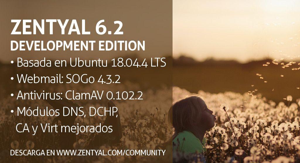 Zentyal Server Development Edition 6.2 Publicada