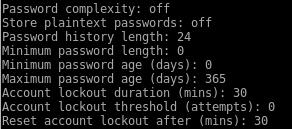 samba-tool domain passwordsettings command options