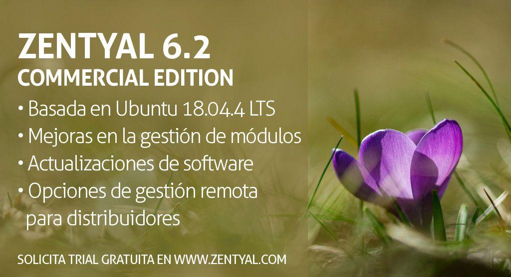 Zentyal Server Commercial Edition 6.2 Publicada