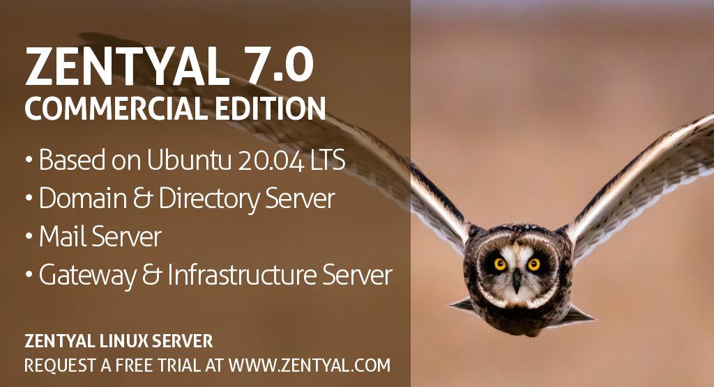 Commercial Edition of Zentyal Linux Server 7.0