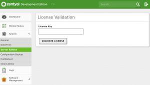 Zentyal Server License Key Validation